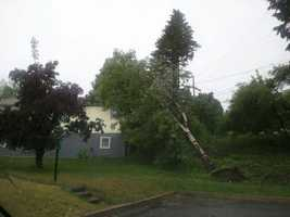 Storm damage in St. Johnsbury.