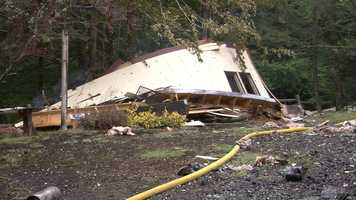 An explosion leveled a two-story home on Sterling Valley Road in Morristown Wednesday afternoon.
