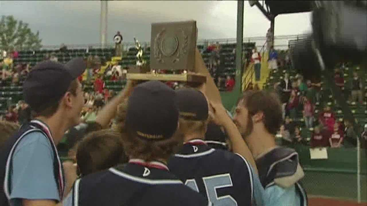 The division 3 baseball trophy awarded to Randolph