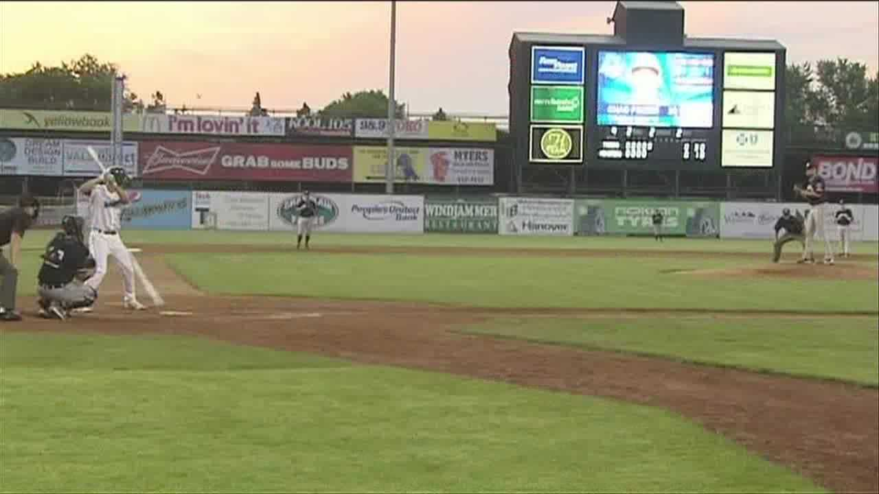 After a pitching duel for 5 plus innings, the Lake Monsters win in grand fashion.