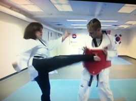 My favorite sport is tennis. I love playing and watching. But I also like Tae Kwon Do. I didn't know I liked it until I did a story on it for the Summer Olympic Games.
