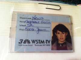 I'm a graduate of Syracuse University's S.I. Newhouse School of Public Communications. Let's Go Orange! While at school I got my start in Broadcast Journalism with an internship at WSTM. Here's my badge. I felt very official!