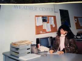 Here I am as a weather girl.