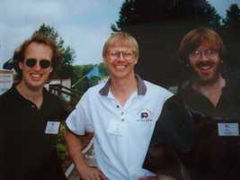 18. How happy was Tom when he got to hang out with Phish musicians Page McConnell & Trey Anastasio at one of the John LeClair Charity Golf Tournaments?