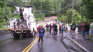 Evacuations onSlayton Hill Road.