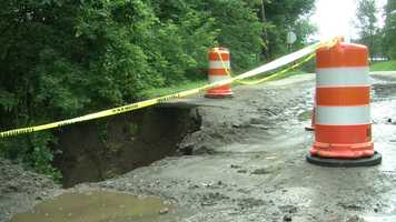 Washout on Route 4 in Lebanon.