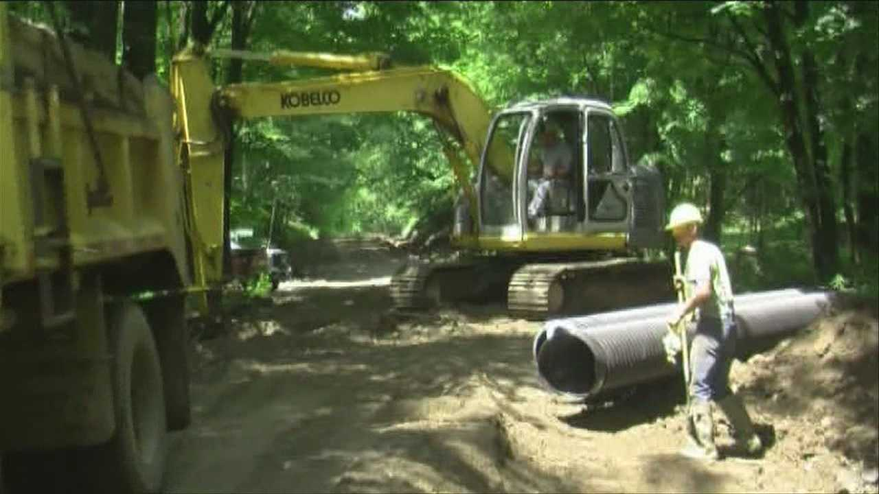 Roads, culverts washed out