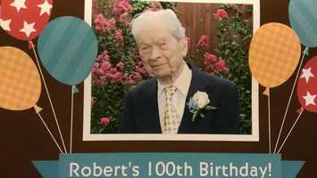 Robert, David's grandfather on his mom's side, celebrated his 100th birthday two years ago. He is doing quite well, and remains the best card player in the family.