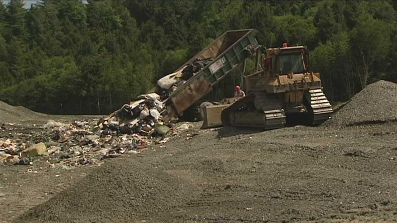 Landfill combs over last trash piles