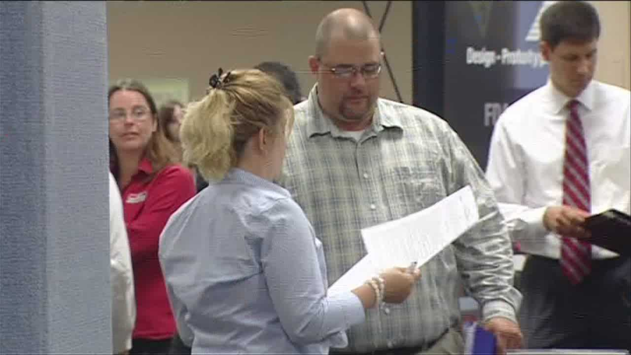 Hundreds of job seekers come to a meet-and-greet with employers Monday, in an event set up by Vermont's Labor Dept.