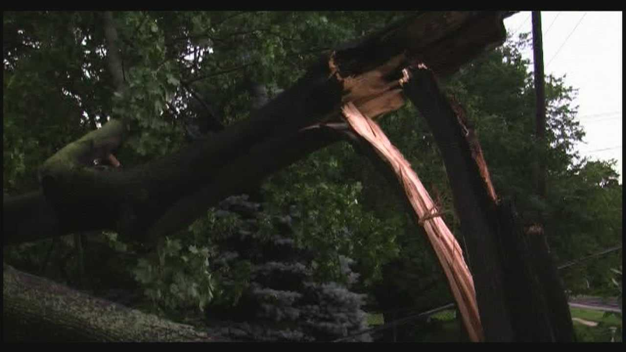 Severe thunderstorm leaves down trees and wires, crews remain in full force