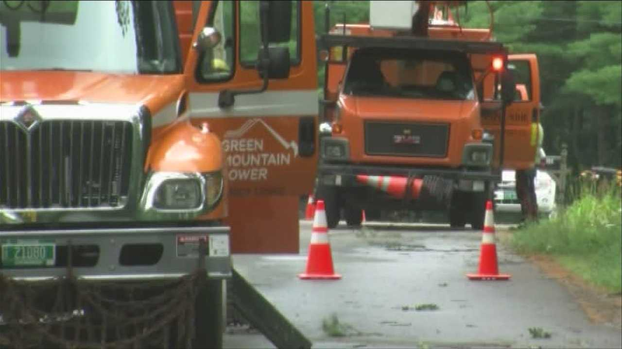 Crews work to bring power back to Milton
