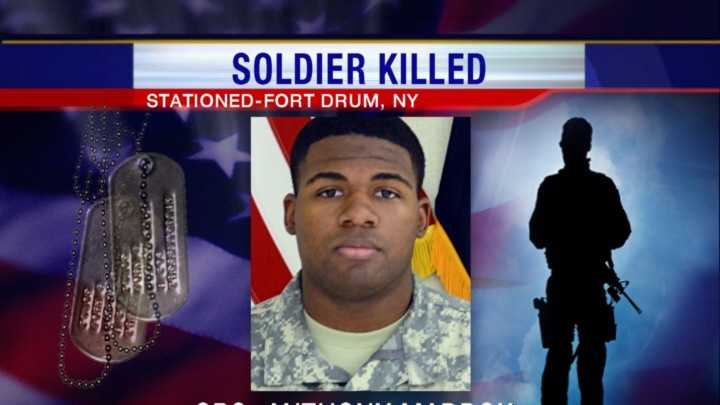 Spc. Anthony Maddox, 10th Brigade Support Battalion, 1st Brigade Combat Team, 10th Mountain Division at Fort Drum, died in Germany following a non-combat related incident that occurred in Afghanistan.