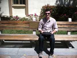 He has sat on the same bench as Tom Hanks did in the movie Forrest Gump, but has never seen the movie!