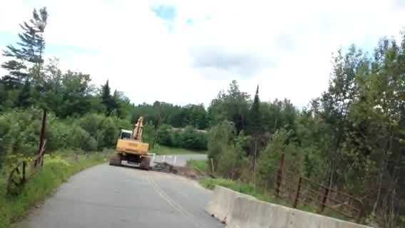 Beaver dam to blame for washed out road - img