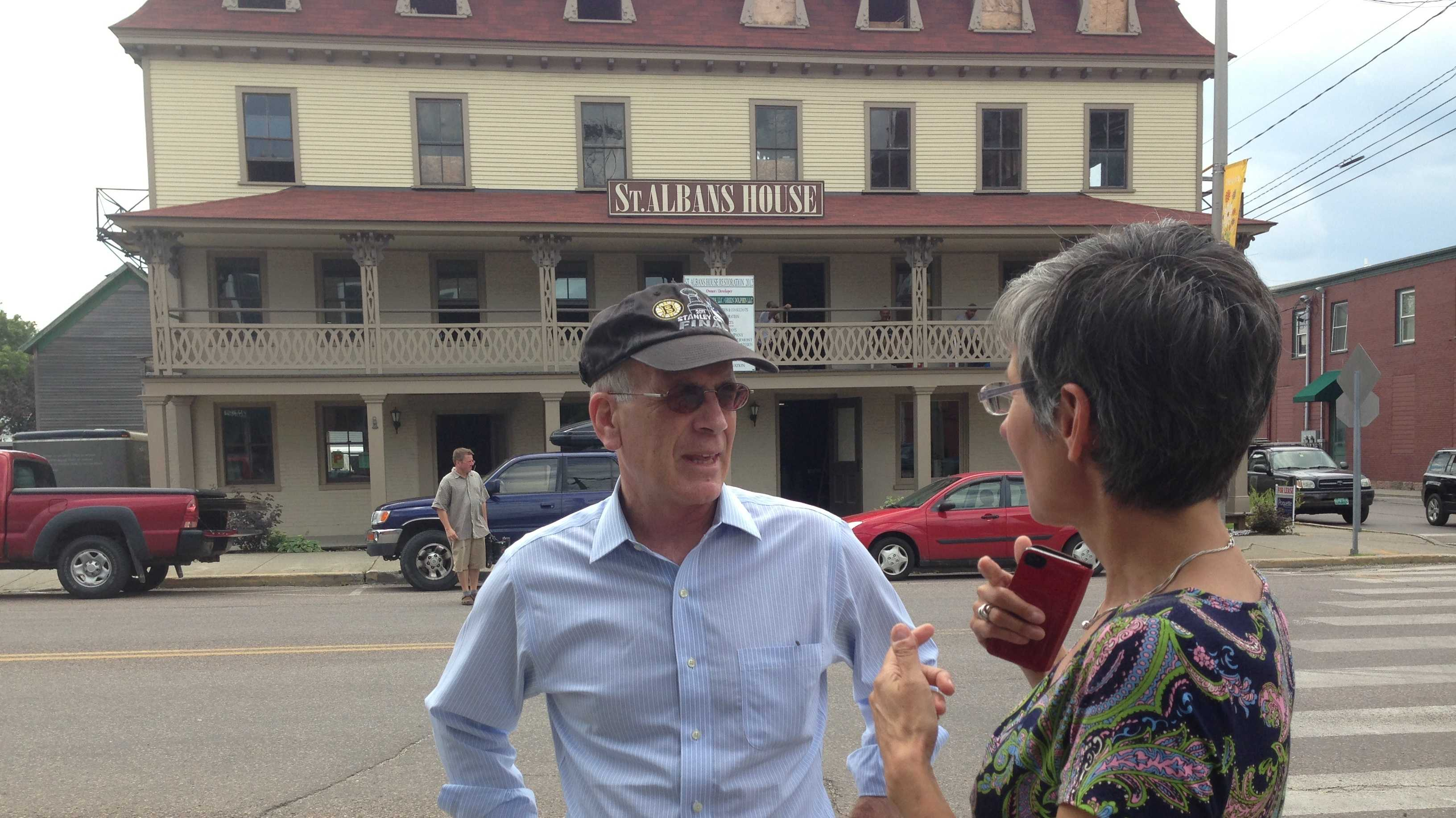 U.S. Rep. Peter Welch got a tour of downtown improvements Monday from St. Albans Mayor Liz Gamache.