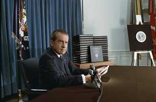 I have shaken hands with three U.S. Presidents so far - Clinton, G.H.W. Bush, and Richard Nixon. I don't remember too much about Nixon. I was 7 and my parents took me to a reception, whereupon I accidentally spilled juice on Nixon's shoes. True story.