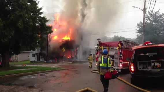 RAW VIDEO Fire consumes Winooski building - img