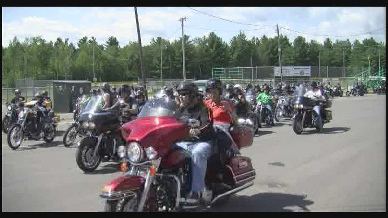 Hundreds of motorcylcists ride for kids with cancer