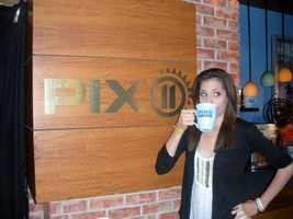 WPTZ is my first job out of college but I did intern at New England Cable News and PIX11 News in New York City. I didn't get to keep the mug...
