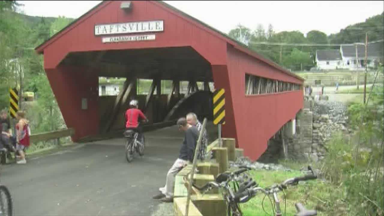 Bridge damaged by Tropical Storm Irene