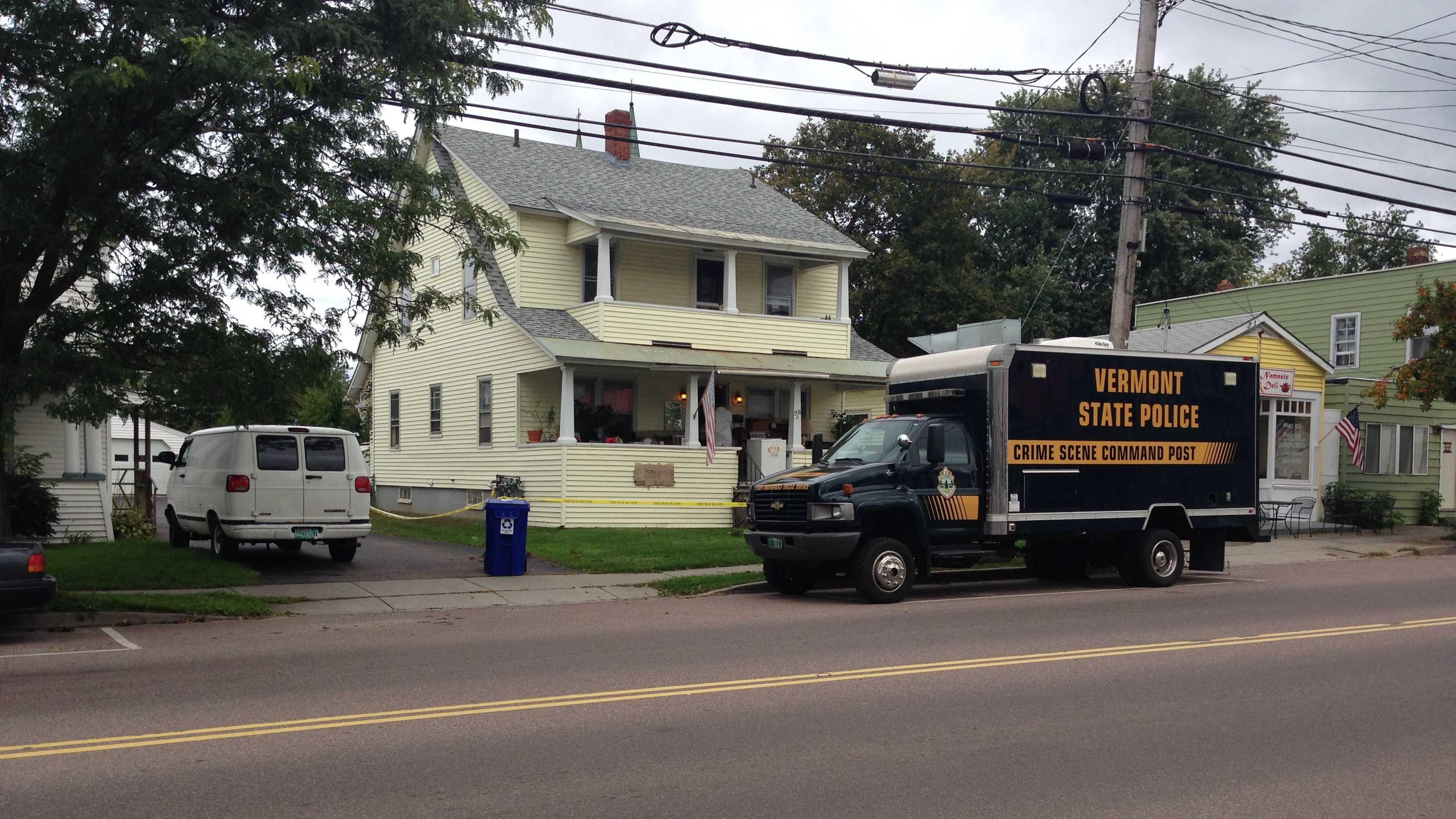 VSP Crime Scene Command Post outside Winooski Home