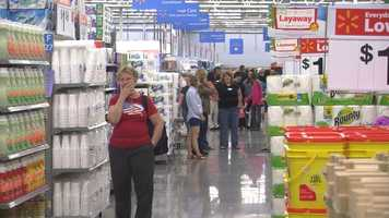 About 200 people work at the store.