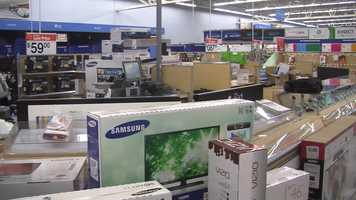 Electronics section.