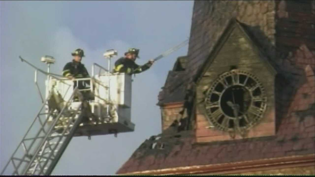 Man charges with arson after downtown church fire
