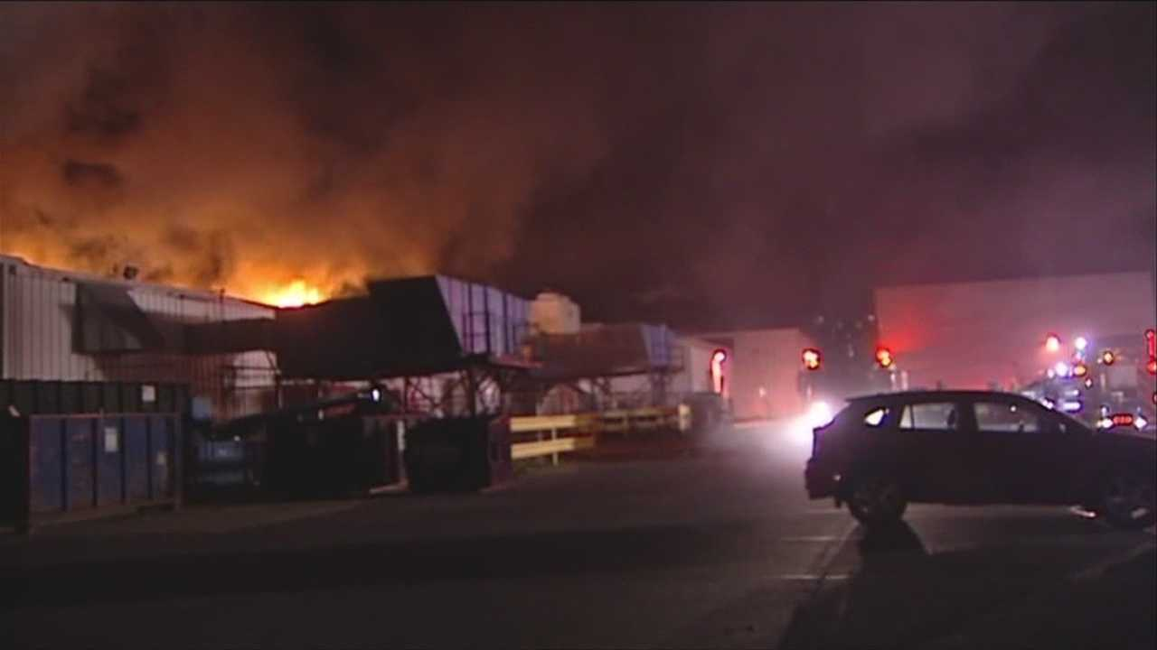 Factory closed after roof catches fire