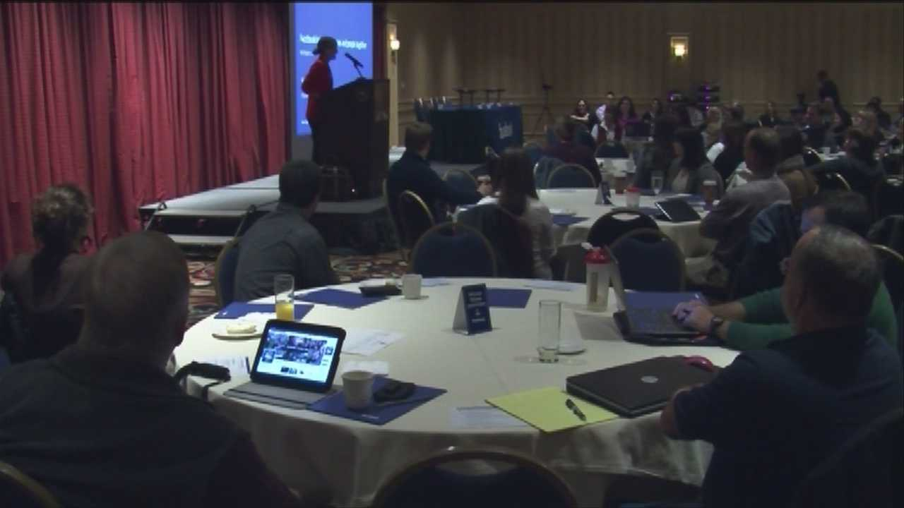 Facebook holds a workshop for small business owners.
