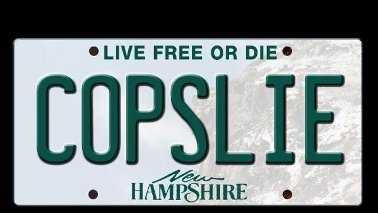 Copslie license plate 110713
