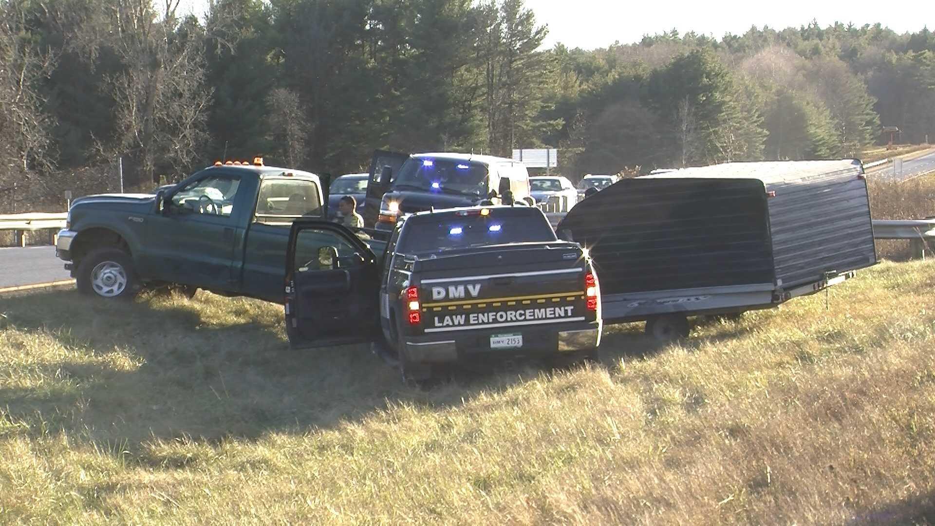 11-20-13 Police pursuit ends in highway median - img