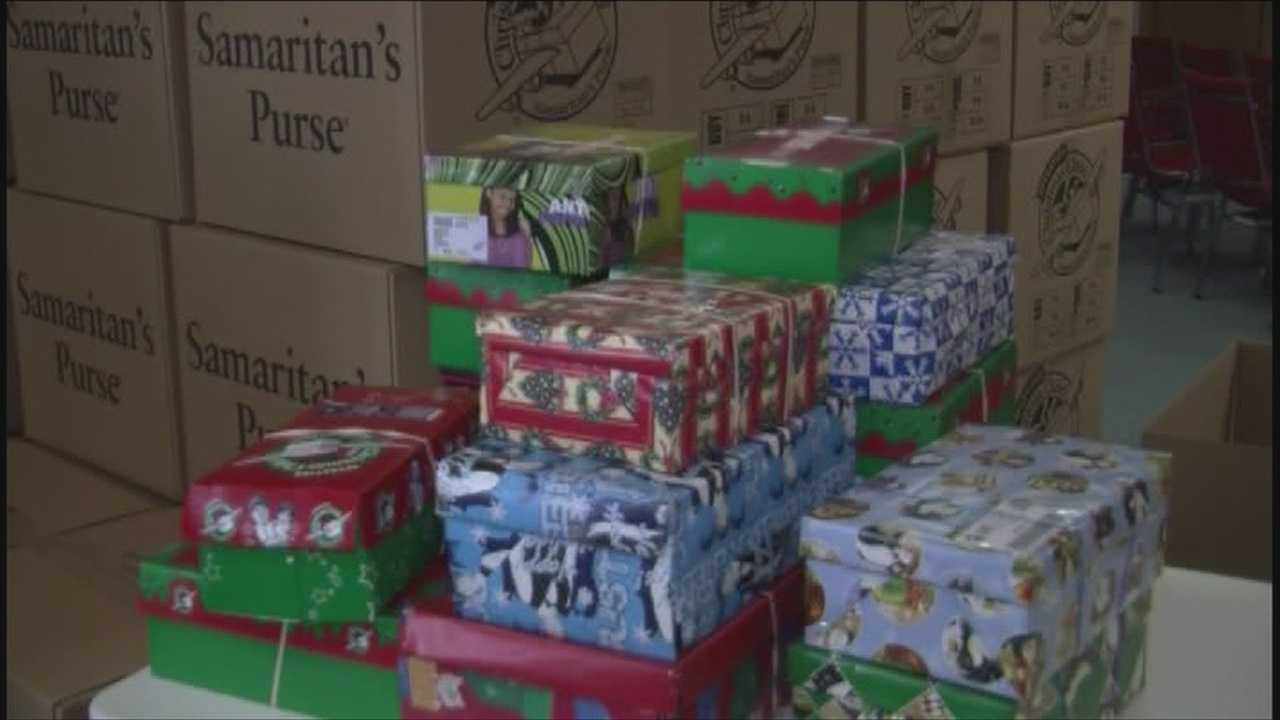 International Christian charity group collects gifts for impoverished children