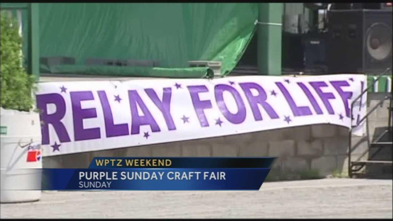 Purple Sunday Craft Fair raises money for Relay For Life. Cat Janisko reports.