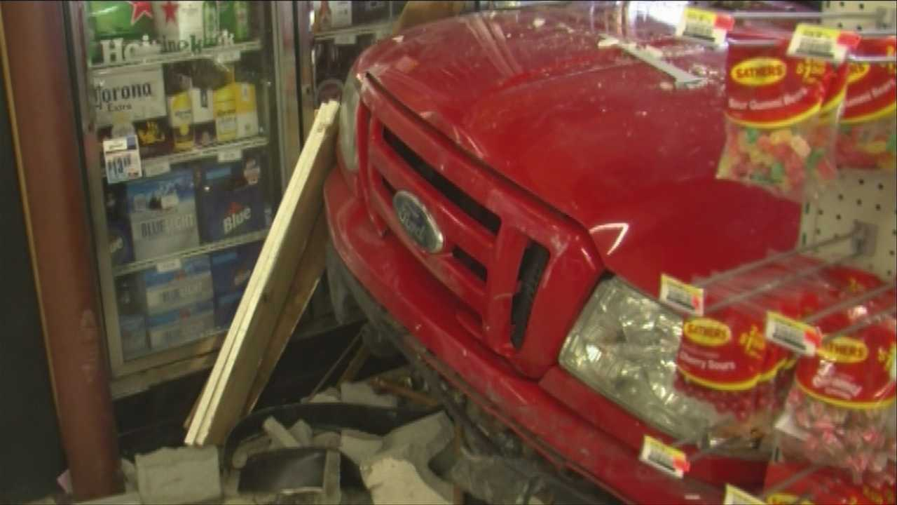 Suspected drunk driver crashed through store