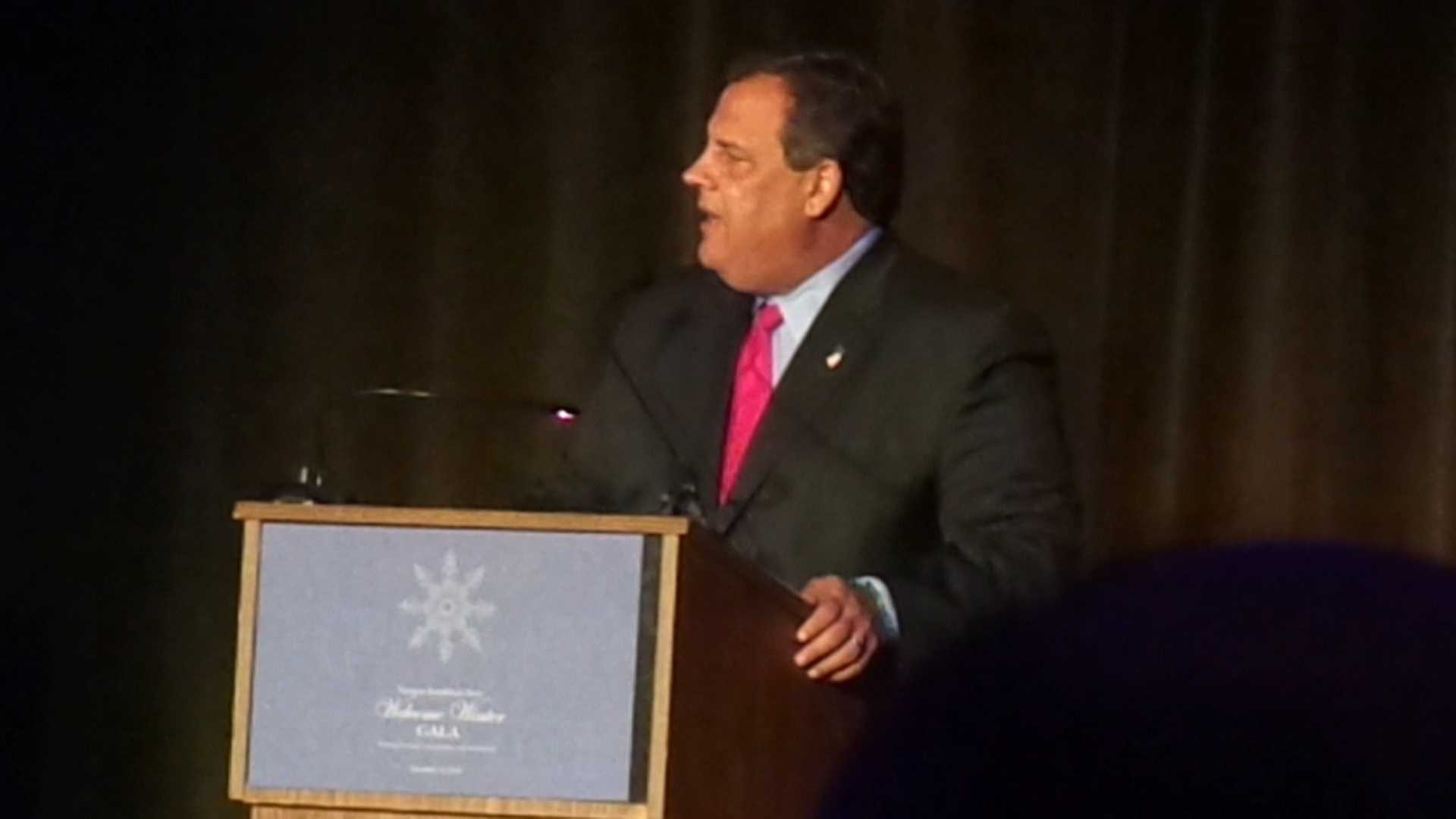 WPTZ obtained video of Chris Christie's speech at a Vermont Republican gala.