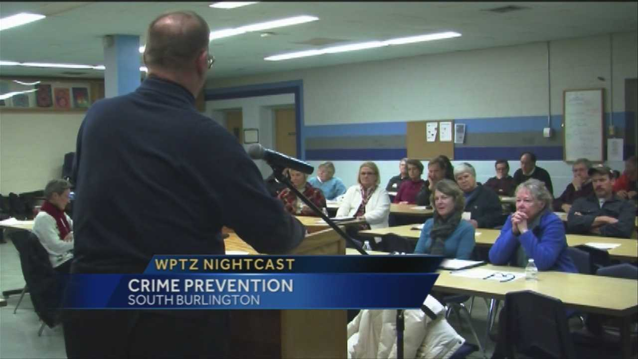 Neighbors in South Burlington talked ways to curb crime at a meeting Thursday night. The city has more than 65 neighborhood watch groups.