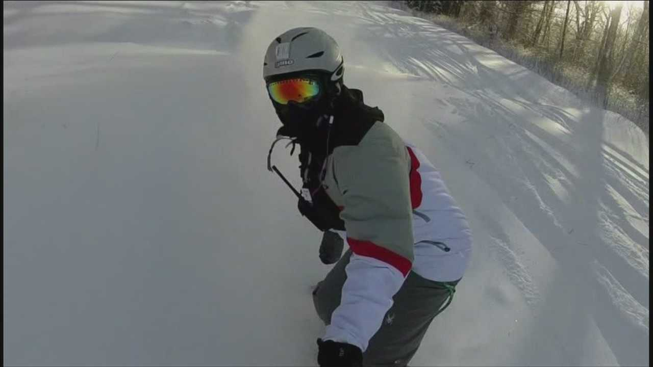 Dedicated skiers and riders hit slopes despite frigid temps
