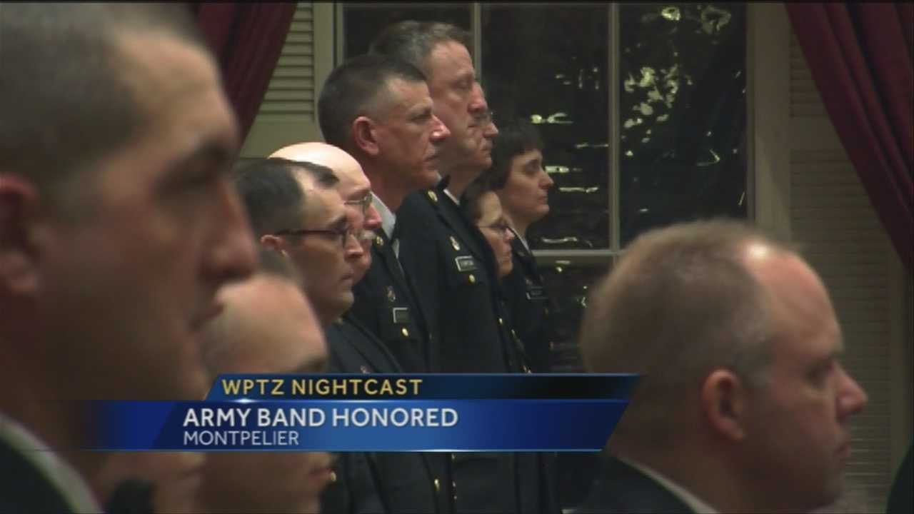 The Vermont National Guard honored 21 of its members Wednesday night, but there's something different about this group. They're all part of the 40th Army Band.