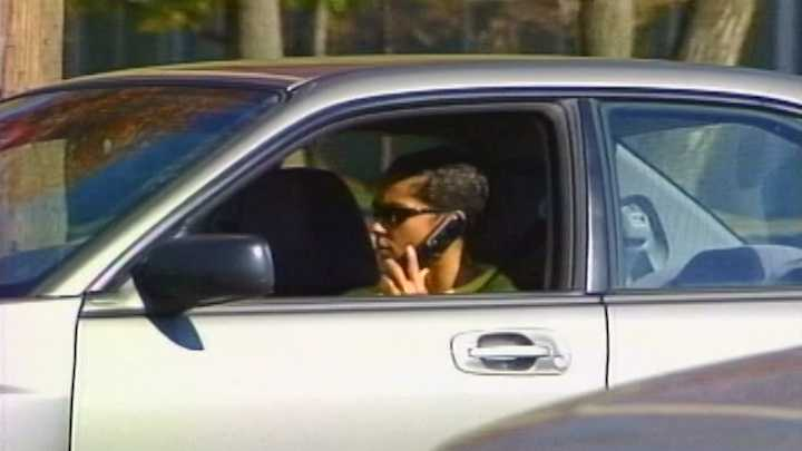 Drivers talking on phone