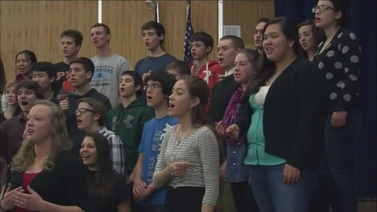 Students at Plattsburgh High School prepare for the show of a lifetime
