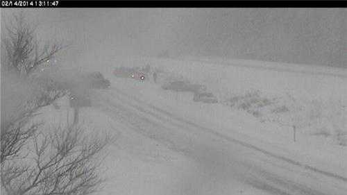 Vermont State Police tweeted this photo of a multi-vehicle crash on I-89 SB in Bolton.
