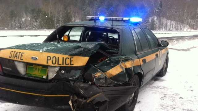 2-19-14 Police say cruiser hit on Interstate 89 - img