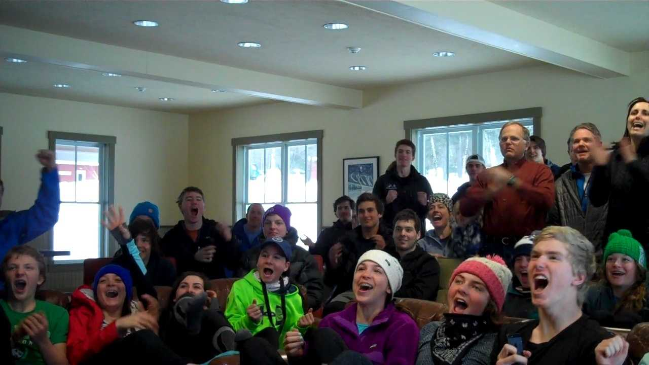 The students and teachers at Burke Mountain Academy react to Friday's Olympic slalom competition featuring a recent graduate.