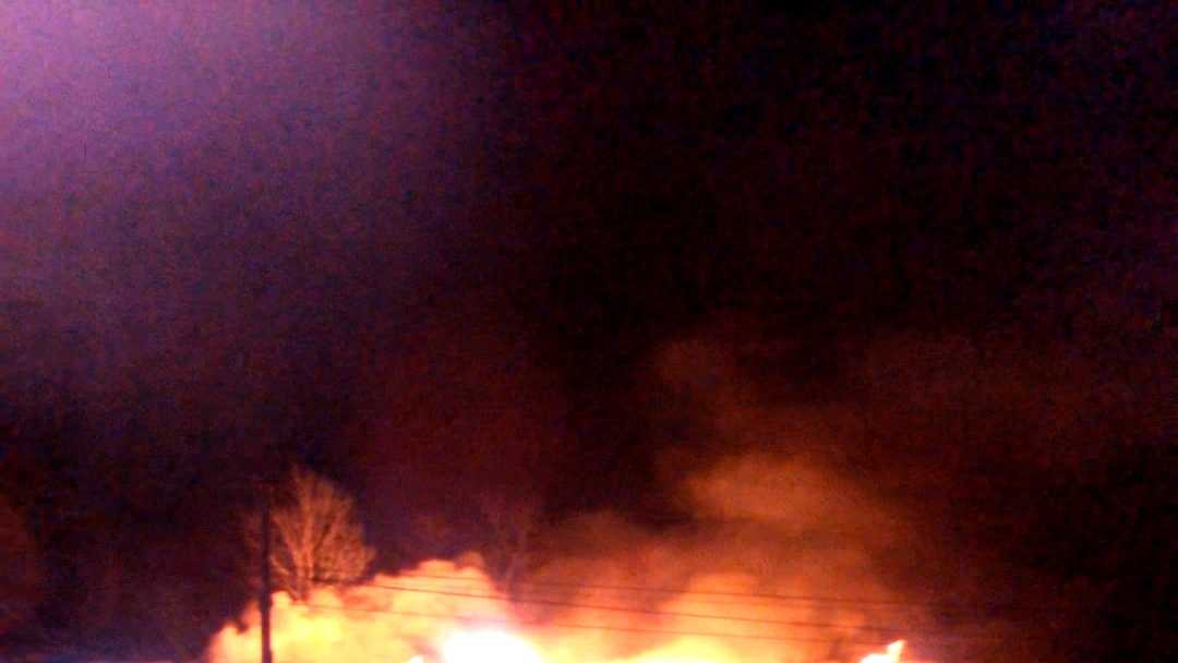 A long-standing building burns to the ground in Lamoille County.