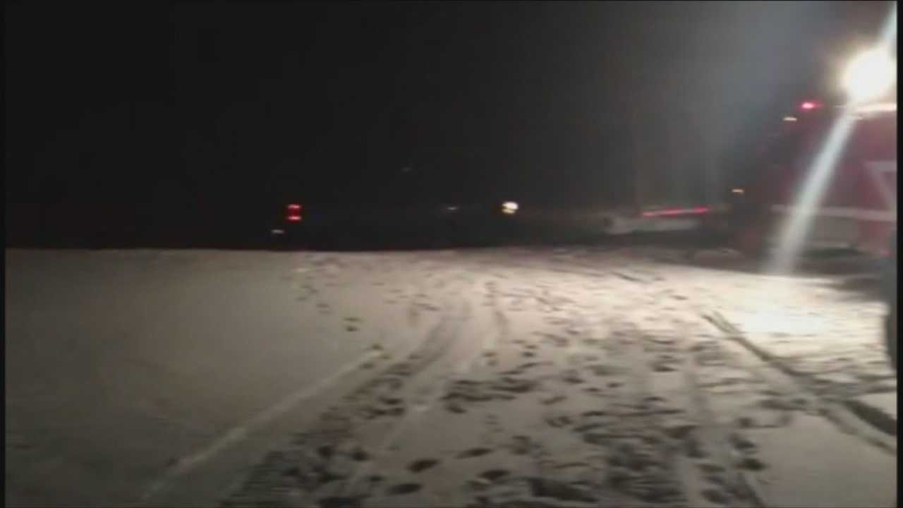 Truck through ice Grand Isle
