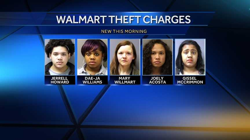 5 charged with petty larceny