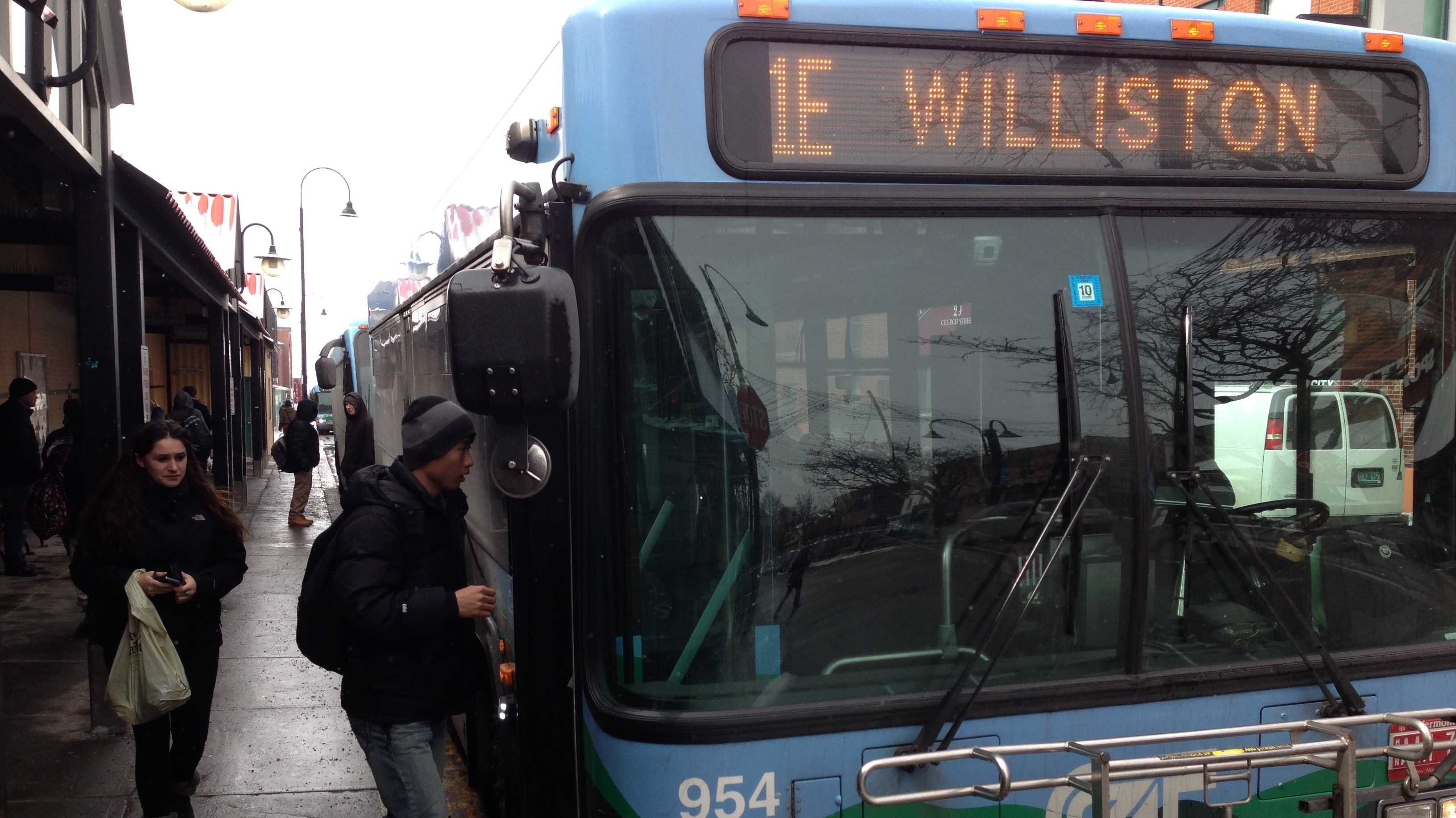 Ten thousand passsangers ride the CCTA each weekday, many use the Cherry St. station in downtown Burlington.