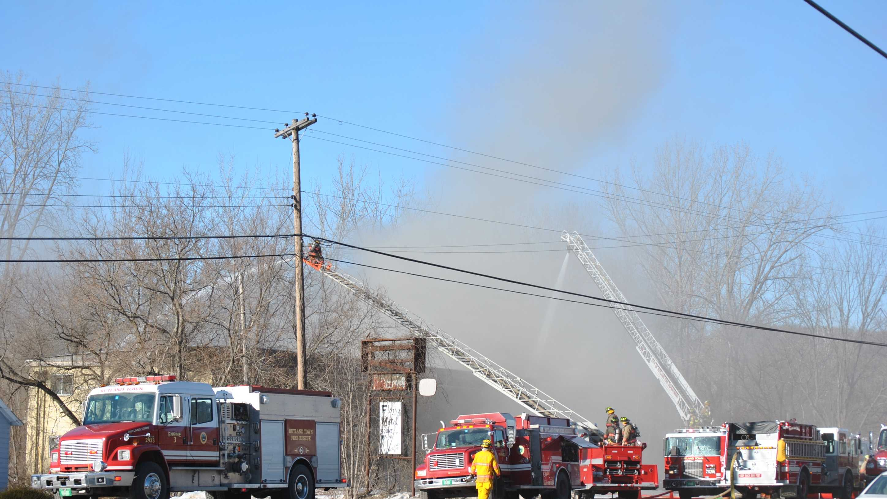 Fire Breaks Out at a Motel in Rutland